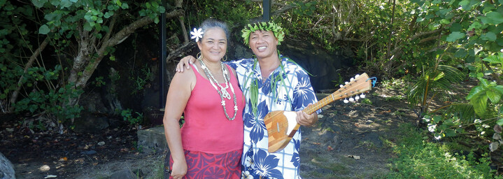 Vavu Tours Bora Bora Guide mit Celine von tahiti Tourisme