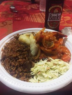Barbados Reisebericht - Oistins Fischmarkt Essen