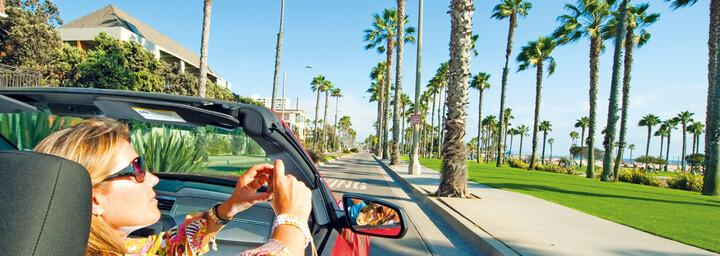 Cabrio Tour am Santa Monica Pier