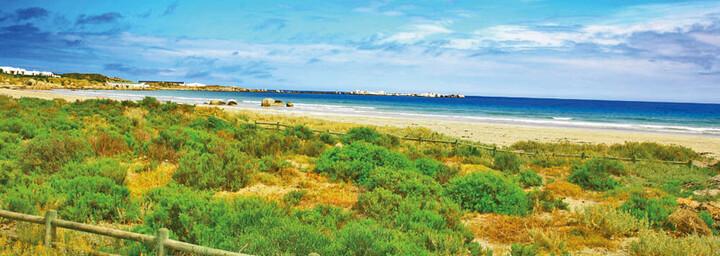 Strand in Paternoster und Atlantischer Ozean