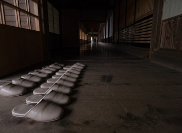 Japan Reisebericht: Weiße Pantoffeln für den Aufenthalt im Kloster