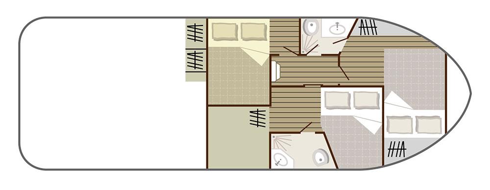 Nicols Hausboote Sedan 1010 Plan