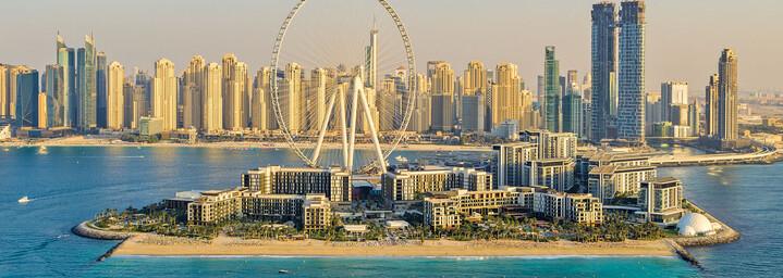 Caesars Resort Bluewaters Dubai von oben