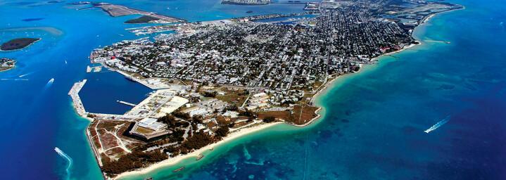 Luftaufnahme paradiesisches Key West