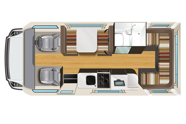 Floorplan bei Tag - Apollo Euro Star