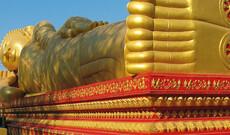 Vientiane Stadt und Tempel