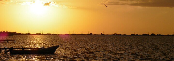 Sonnenuntergang Campeche Mexiko