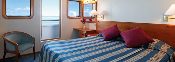 """Beispiel Stateroom Cabin - Kreuzfahrtschiff """"MV Reef Endeavour"""" Captain Cook Cruises"""