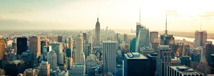 Skyline New York City vom Rockefeller Center