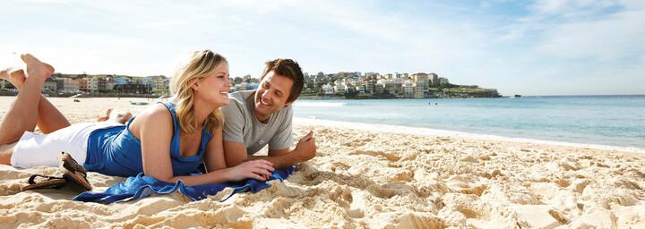 Paar am Bondi Beach