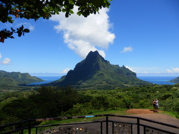 Reisebericht Südsee: Vulkan Mont Rotui auf Moorea
