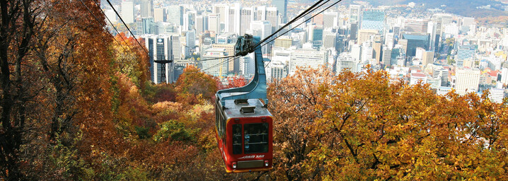 Seilbahn auf den Namsan Berg in Seoul