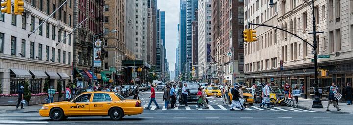 Straßenszene New York City