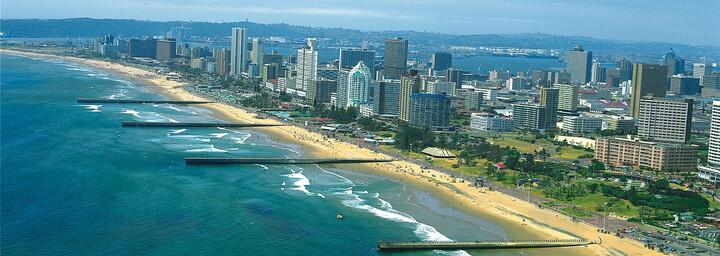 Strand und Skyline Durban