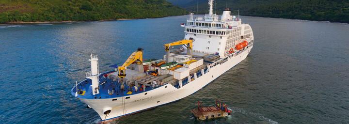 Kreuzfahrtschiff 'Aranui 5'