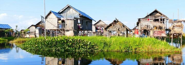 Inle See - Häuser