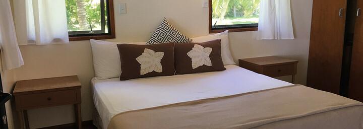 Zimmerbeispiel der Aitutaki Beach Villas
