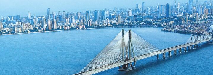 Blick auf Mumbais Skyline