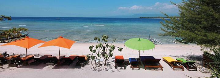Kura Kura Beach Resort Strand Gili Meno