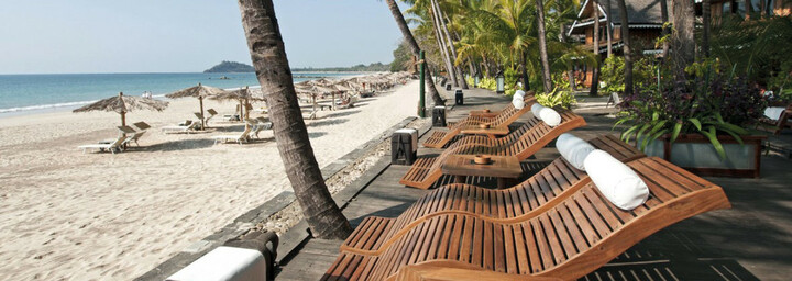 Strand des Sandoway Resort
