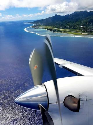 Cook Inseln Reisebericht - Air Rarotonga Flug