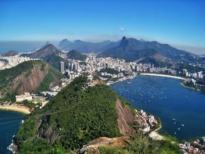Aussicht vom Zuckerhut auf Rio de Janeiro