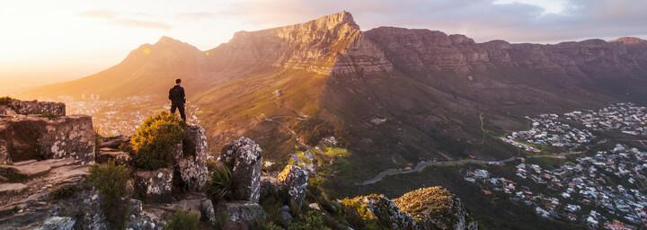 Ausblick vom Lions Head auf den Tafelberg