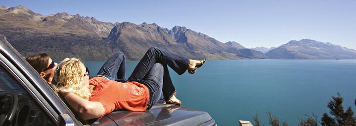 Lake Wakatipu Paar bei der Pause