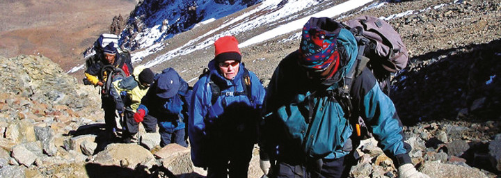 Bergwanderer auf dem Kilimanjaro