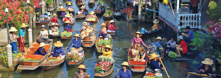 Damnoen Saduak Markt - Floating Market Bangkok