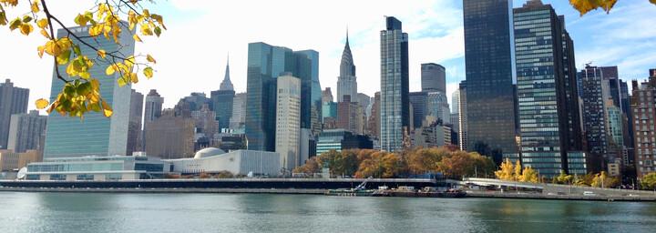 Reisebericht New York City - Aussicht von Roosevelt Island auf New York City
