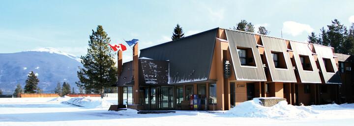 Außenansicht Marmot Lodge Jasper