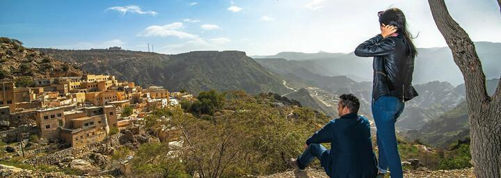 Wanderung von der Sahab Resort & Spa