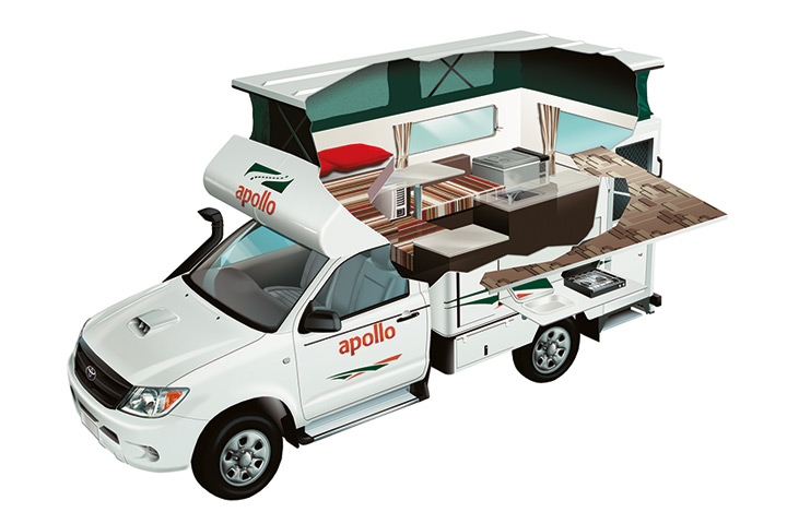 Cutaway Apollo 4WD Adventure Camper
