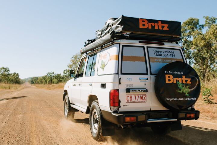 Außenansicht des Britz Safari Landcruiser