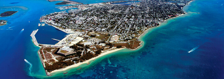 Luftaufnahme Key West in Florida
