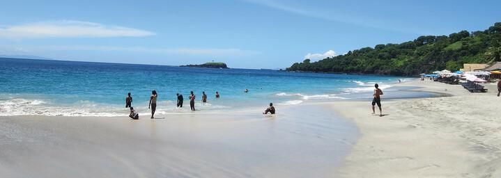 Strand Candi Dasa auf Bali