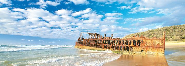 Maheno Wrack Fraser Island Queensland