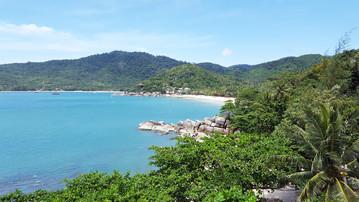 Reisebericht Thailand: Ausblick vom Spa Bereich des Santhiya Koh Phangan Resort & Spa