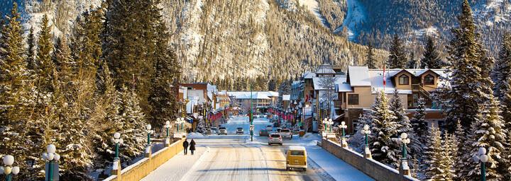 Banff Avenue im Schnee