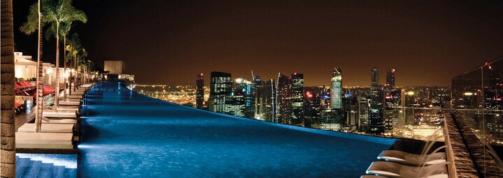 Pool des Marina Bay Sands in Singapur