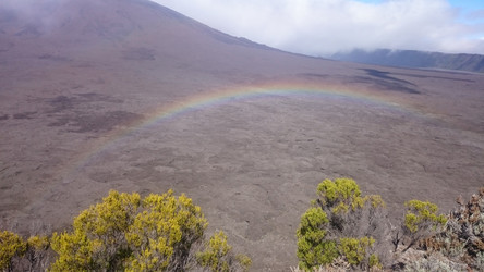 La Réunion Reisebericht: Blick auf das Lavafeld des Piton de la Fournaise