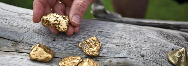 Goldwaschen in Dawson City