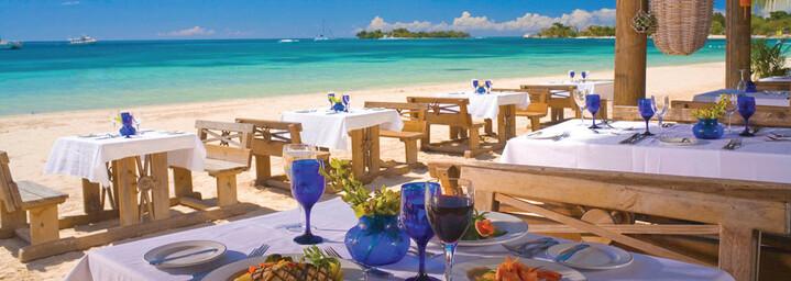 Barfuß-Restaurant Sandals Negril Resort & Spa