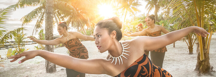 Samoa traditionalle Tänzerinnen