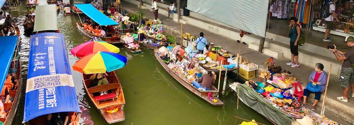 Damnoen Saduak Schwimmender Markt in Bangkok