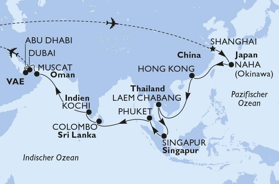 Von Shanghai nach Dubai: Metropolen, Tempel und Traumstrände