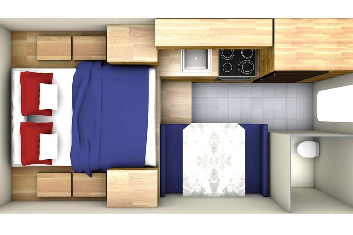 Floorplan bei Tag des Maxi Travel Camper TCA