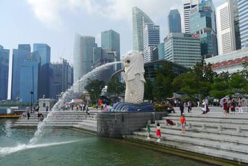 Reisebericht Singapur: Merlion in Singapur