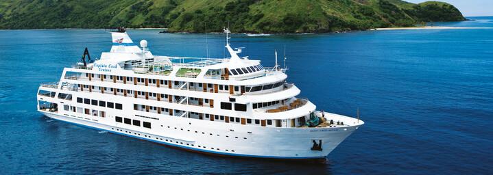 """Außenansicht - Kreuzfahrtschiff """"MV Reef Endeavour"""" Captain Cook Cruises"""